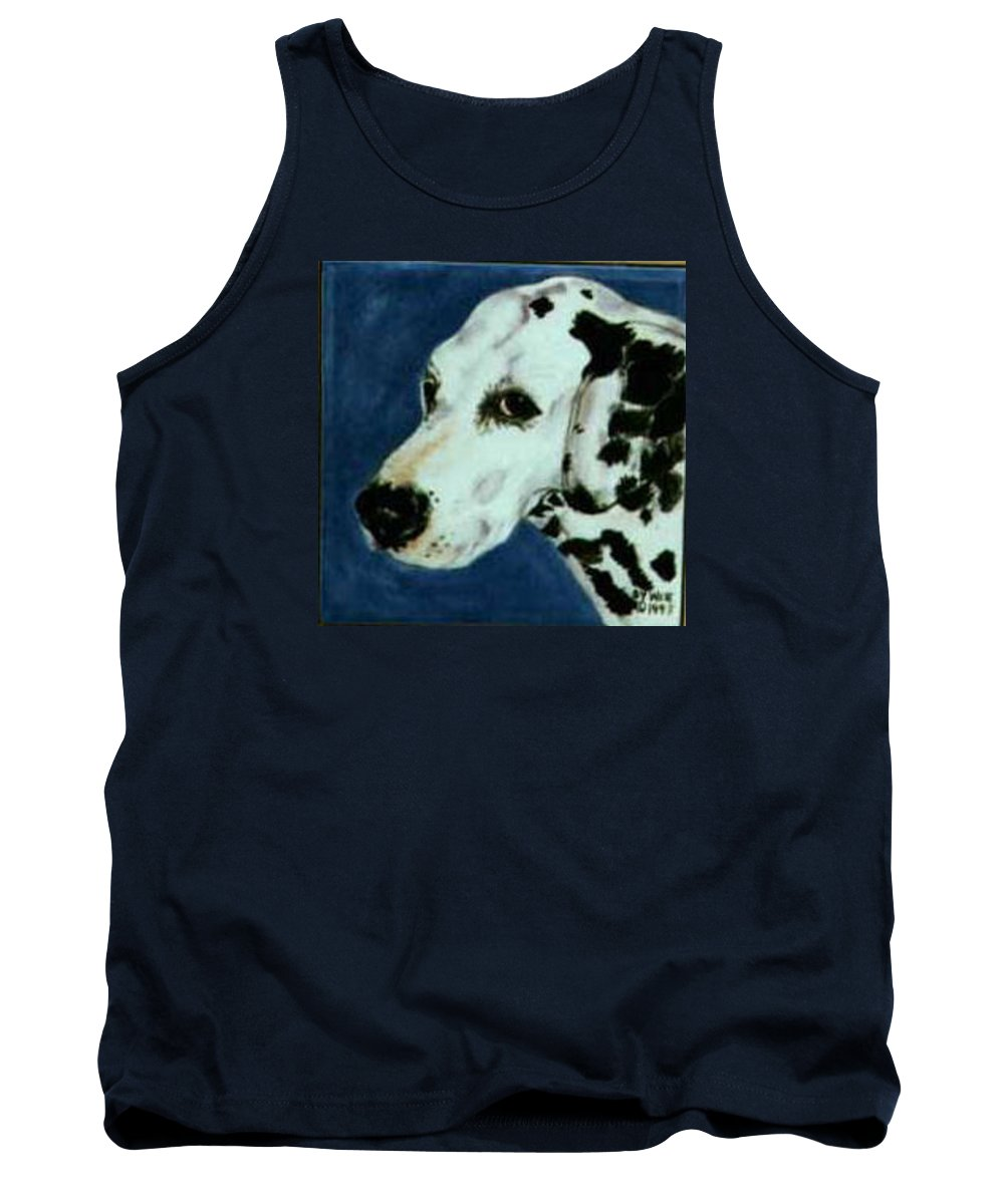 Dalmation Tank Top featuring the painting Fred by Dy Witt