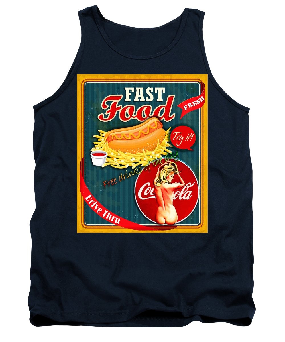 Comics Tank Top featuring the digital art Free Drinks by Don Kuing