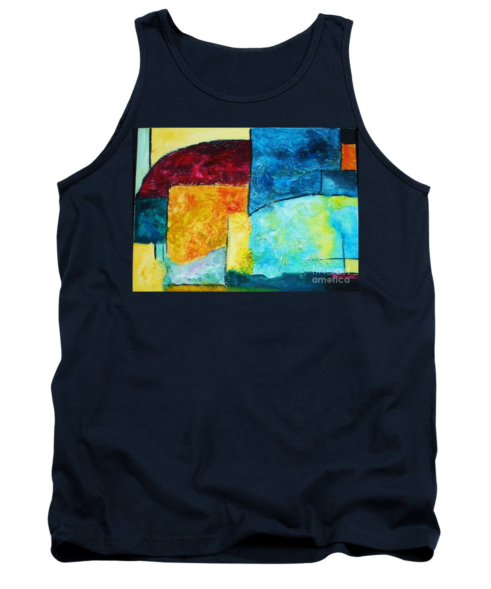 Acrylic Painting Tank Top featuring the painting Freedom by Yael VanGruber