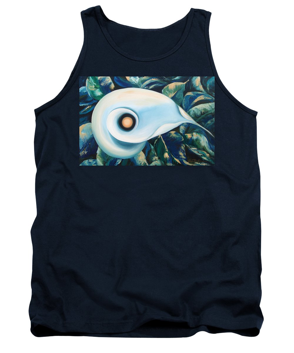 Flowers Tank Top featuring the painting From The Heart Of A Flower by Gina De Gorna
