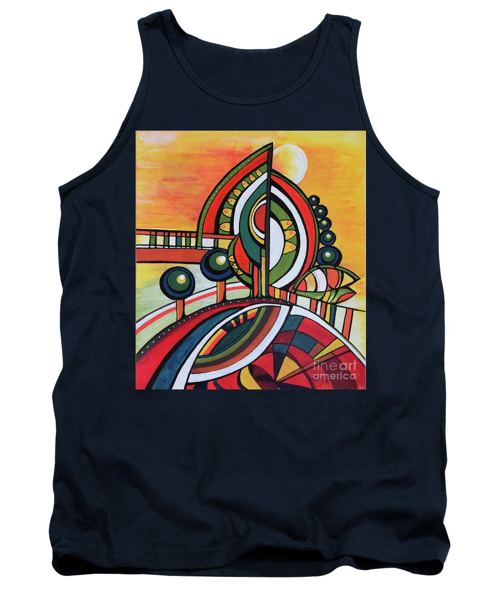 Original Painting Tank Top featuring the painting Gaia's Dream by Aniko Hencz
