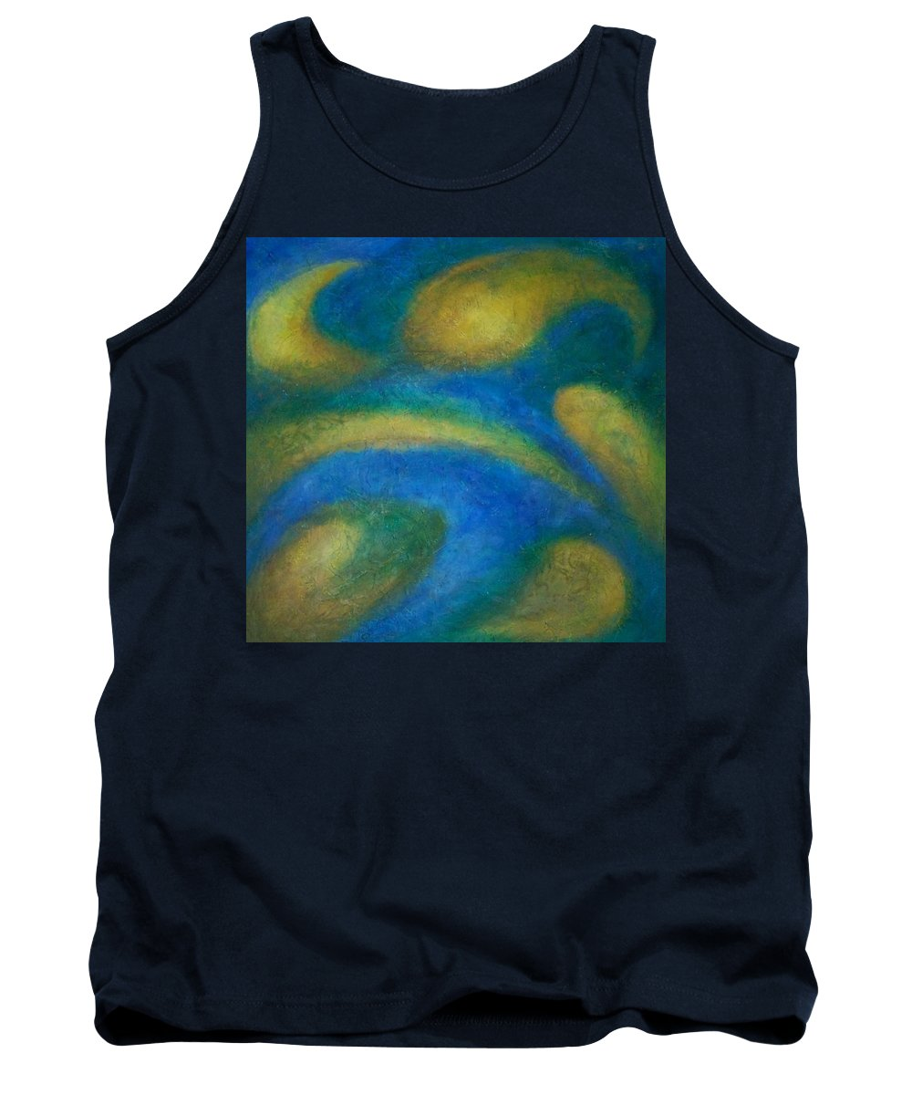Abstract Tank Top featuring the painting Galaxia by Anita Burgermeister