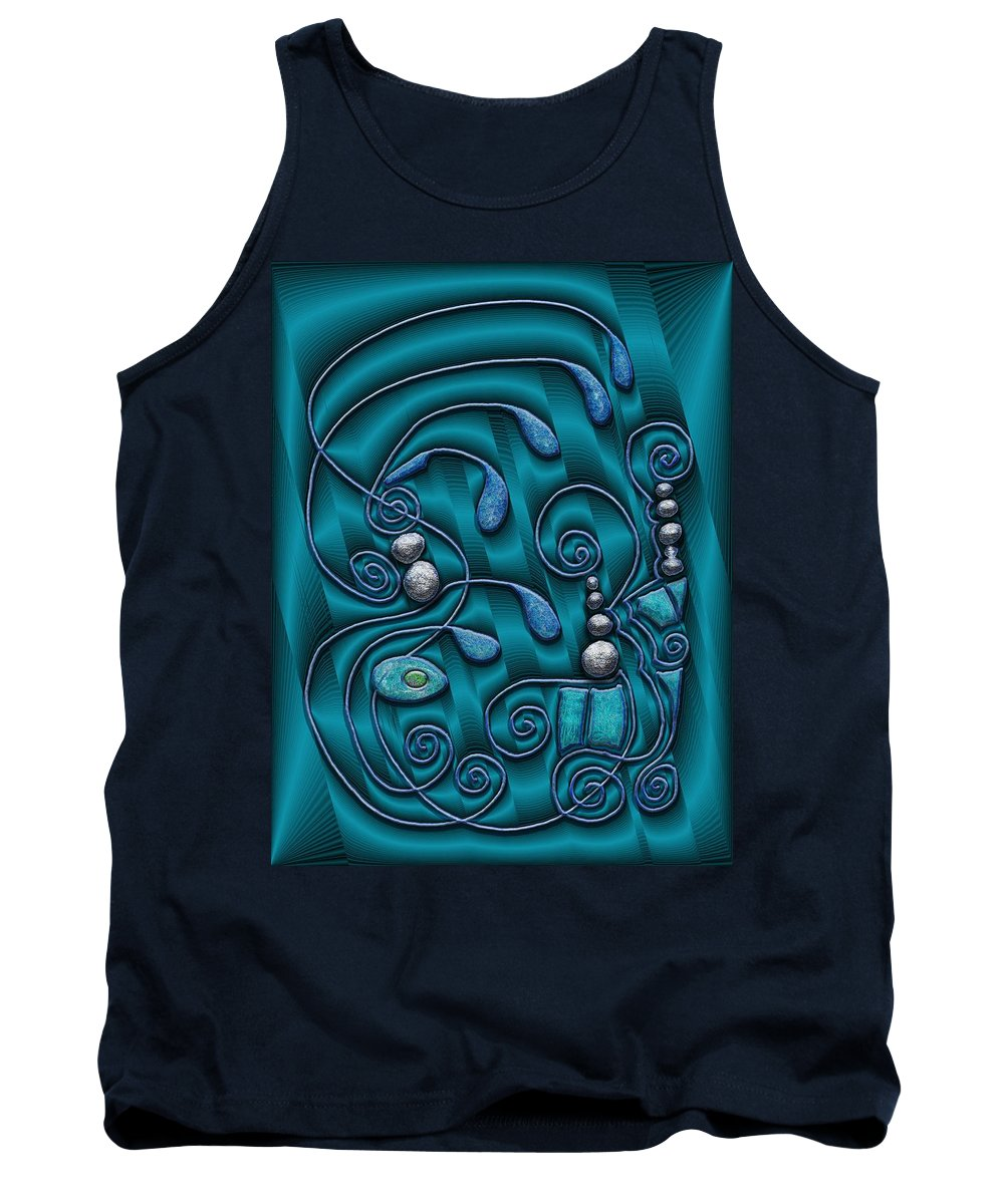 Surrealism Tank Top featuring the digital art Gate To Atlantis by Mark Sellers