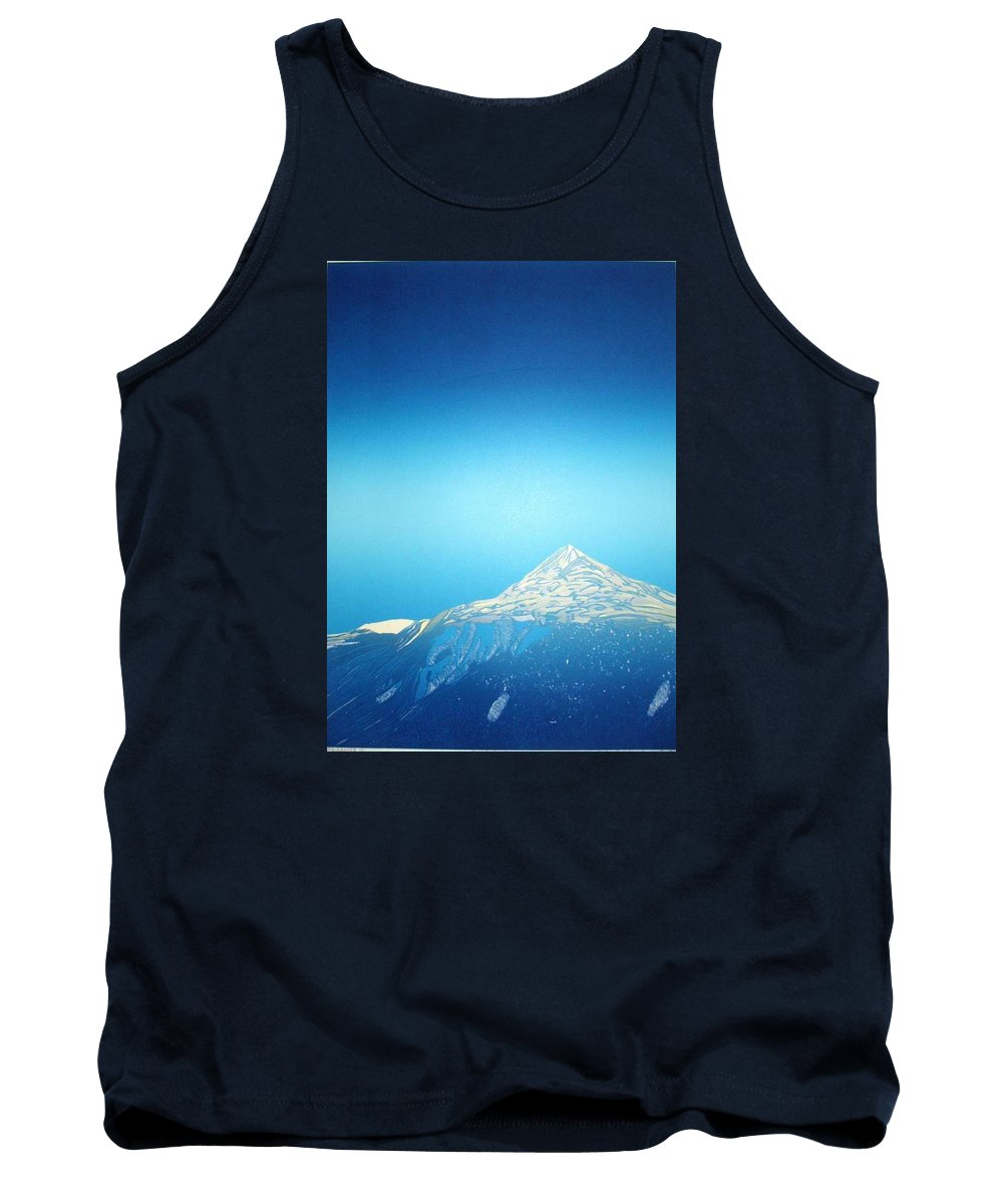Tank Top featuring the drawing Gaustatoppen. by Jarle Rosseland