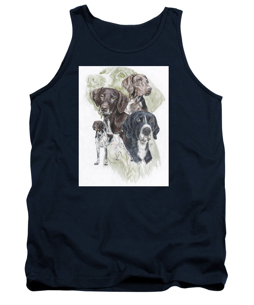 Gshp Tank Top featuring the mixed media German Shorted-haired Pointer W/ghost by Barbara Keith