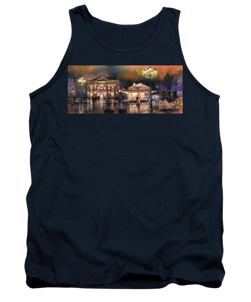 Pastel Tank Top featuring the painting Germany Baden-baden 14 by Yuriy Shevchuk