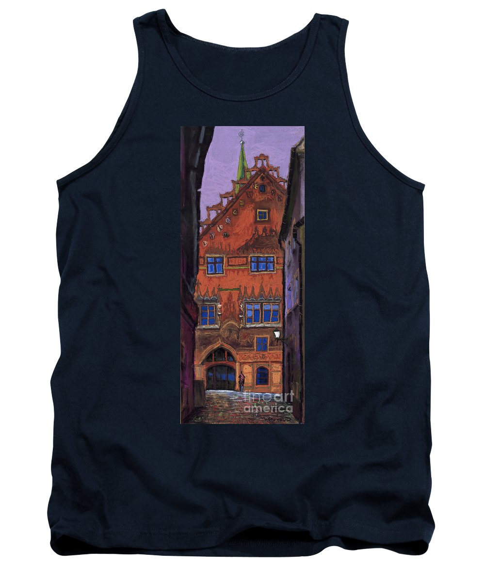 Pastel Tank Top featuring the painting Germany Ulm by Yuriy Shevchuk