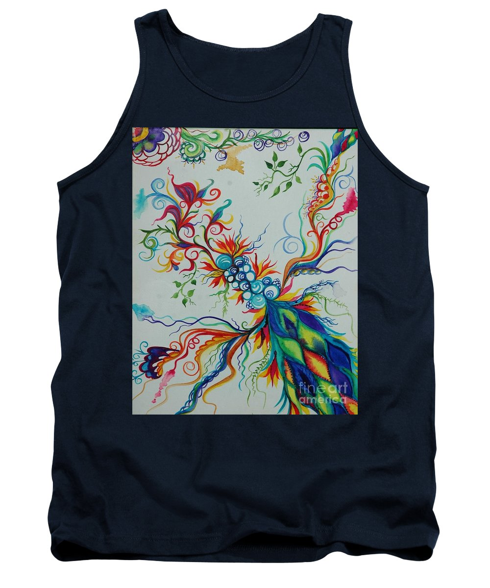 Tank Top featuring the painting Germination by Christiane Hellner-OBrien