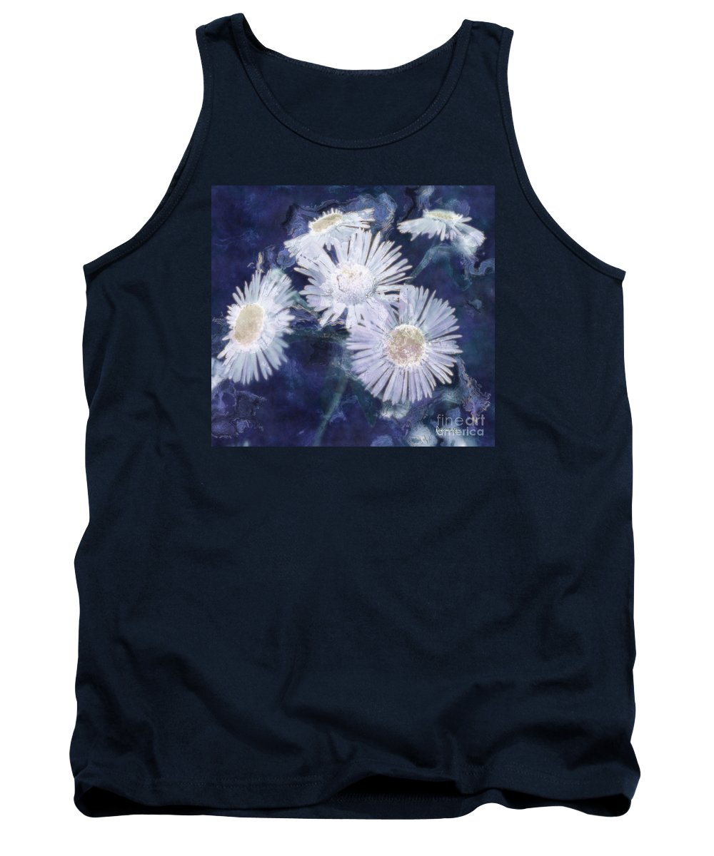 Asters Tank Top featuring the painting Ghost Flowers by RC DeWinter