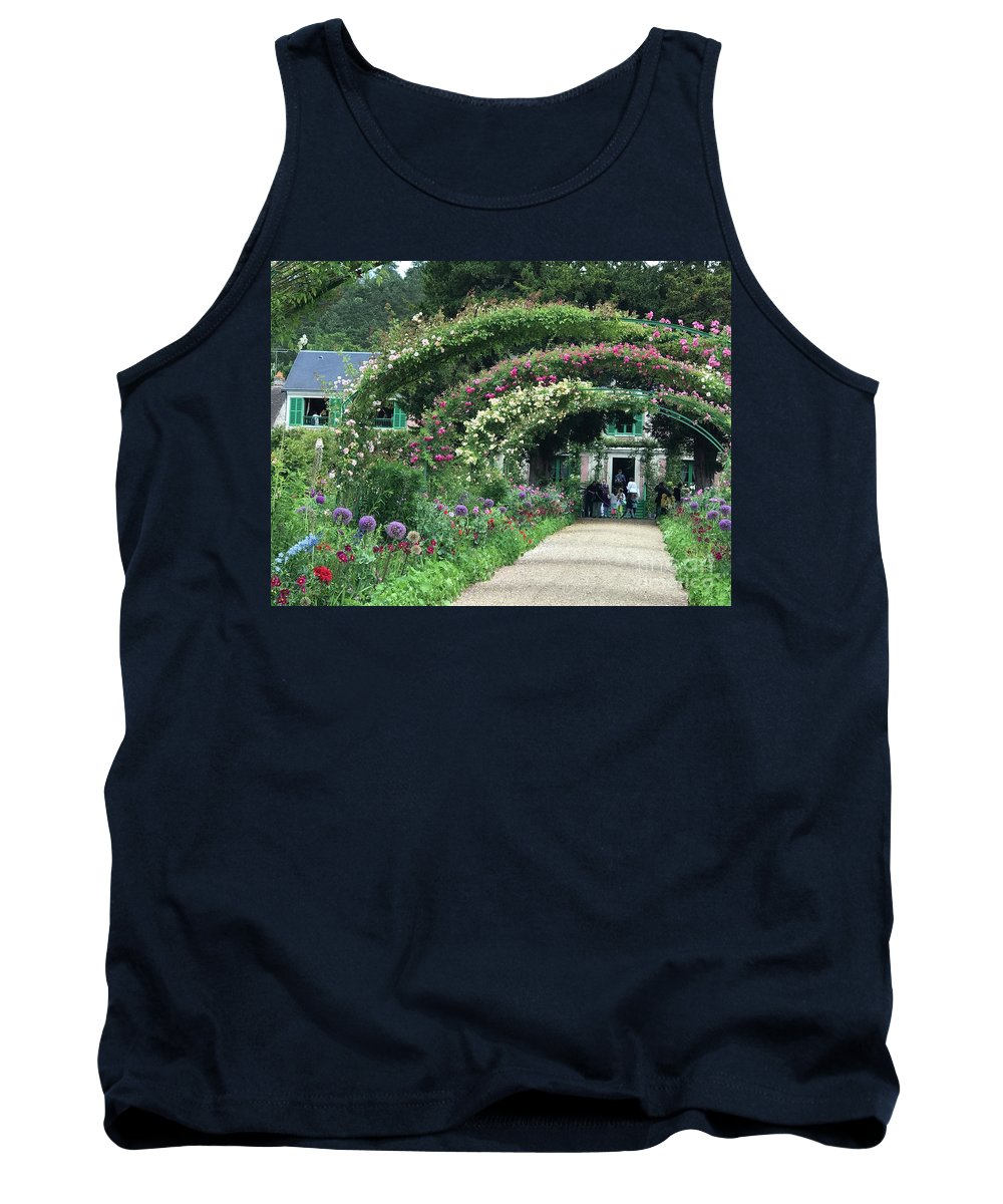 Giverny Tank Top featuring the photograph Giverny Floral Walk by Nadine Rippelmeyer