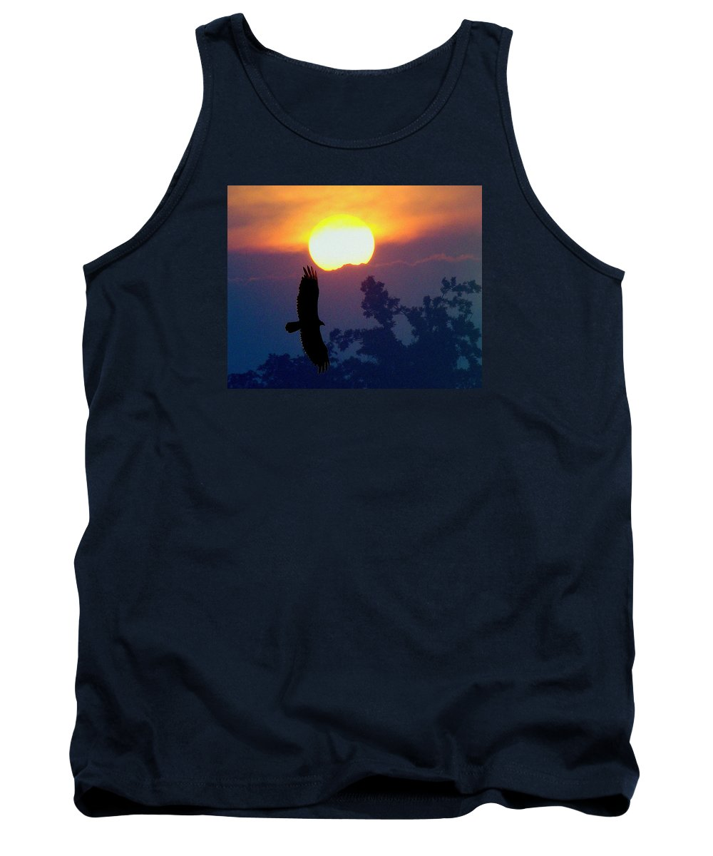 Sunset Tank Top featuring the photograph Gliding By The Sun by J R Seymour