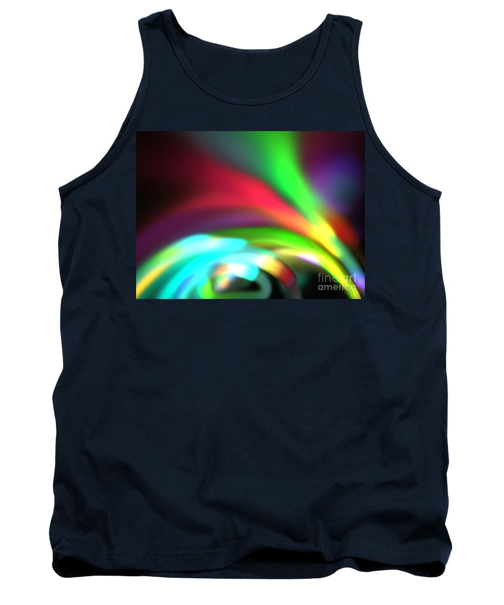 Apophysis Tank Top featuring the digital art Glowing Arches by Kim Sy Ok