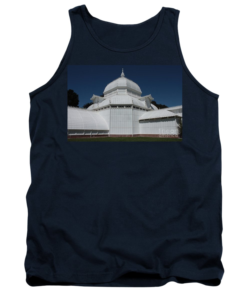 White Tank Top featuring the photograph Golden Gate Conservatory by Carol Groenen
