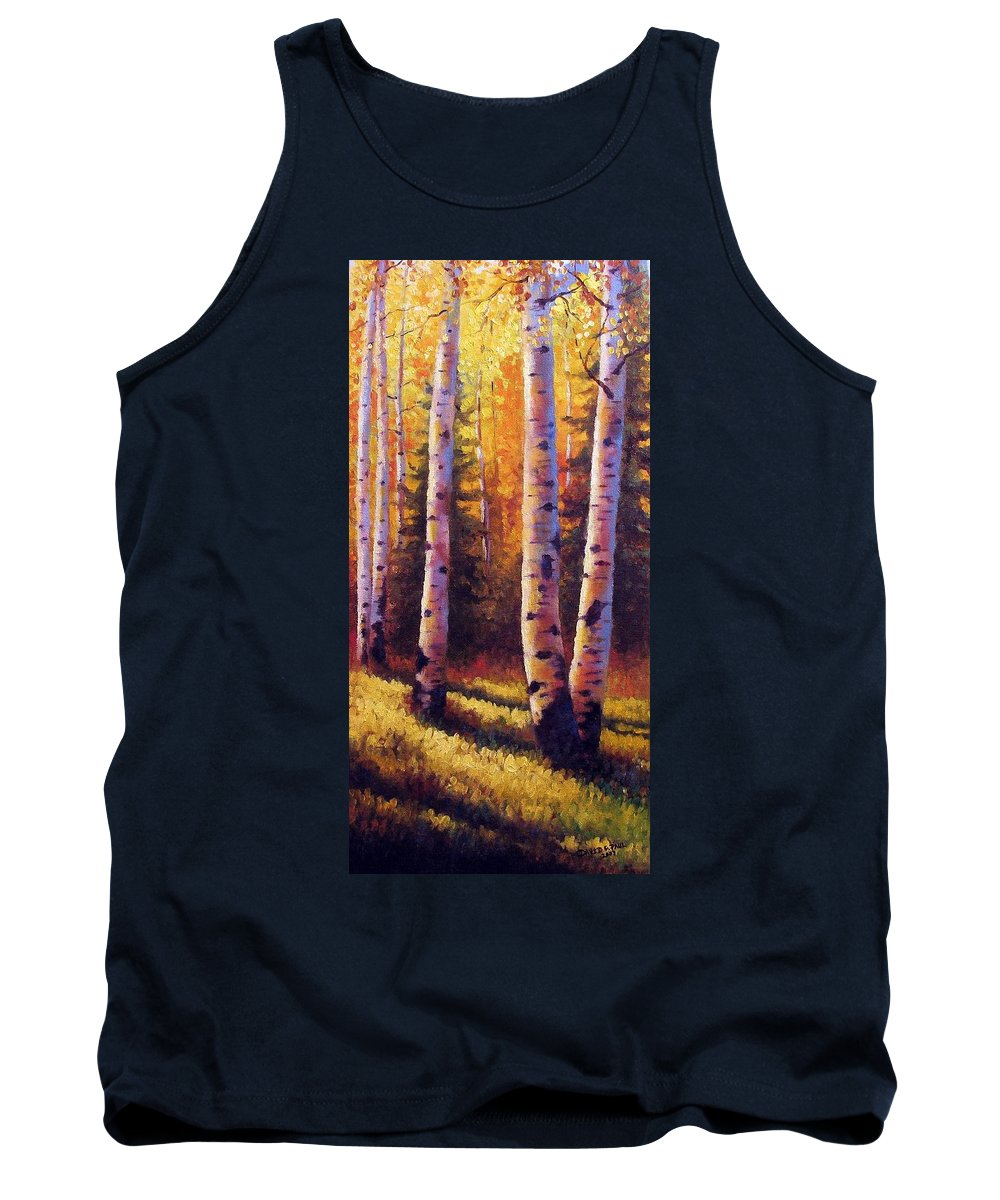Light Tank Top featuring the painting Golden Light by David G Paul