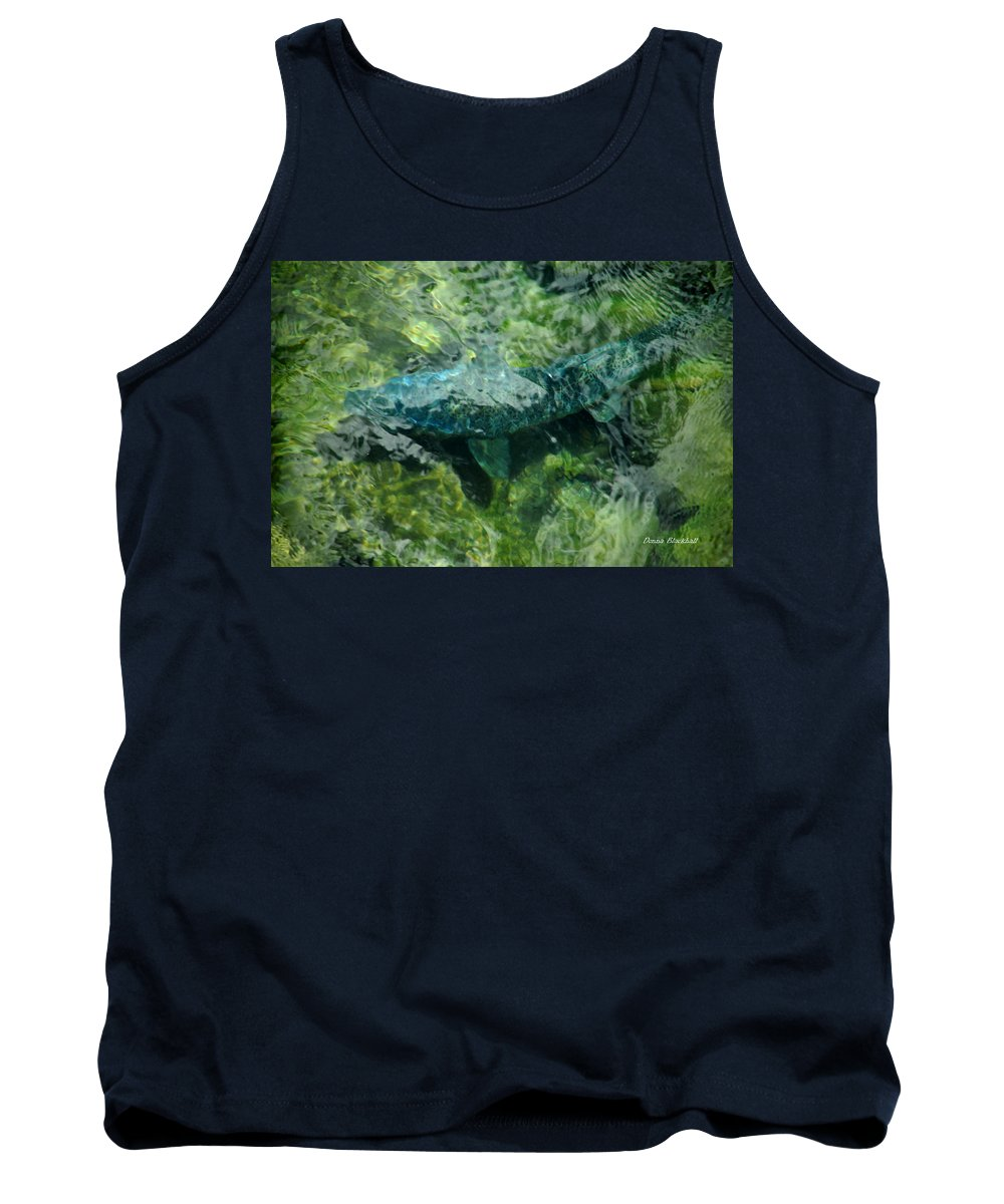Water Tank Top featuring the photograph Gone Fishin by Donna Blackhall