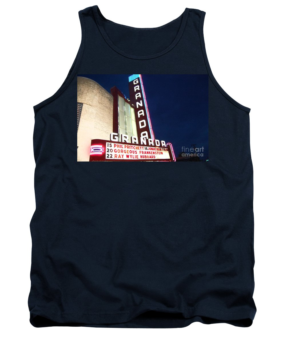 Music Tank Top featuring the photograph Granada Theater by Debbi Granruth