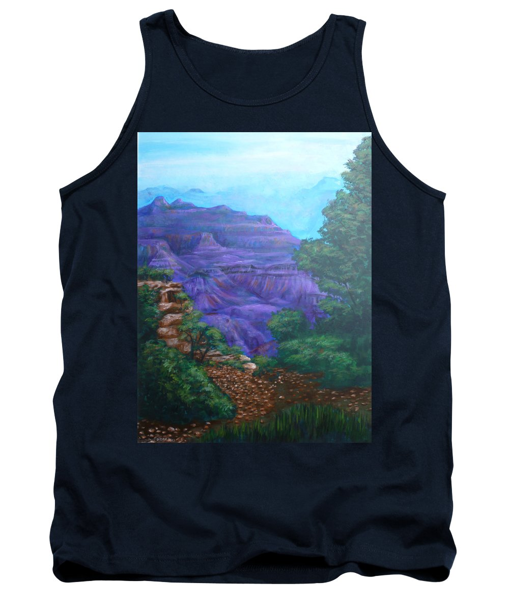 The Grand Canyon Tank Top featuring the painting Grand Canyon by Bryan Bustard