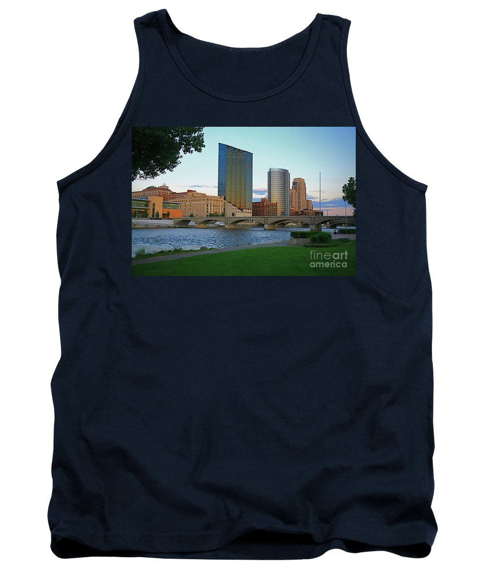 Sky Line Tank Top featuring the photograph Grand Rapids Mi-3 by Robert Pearson