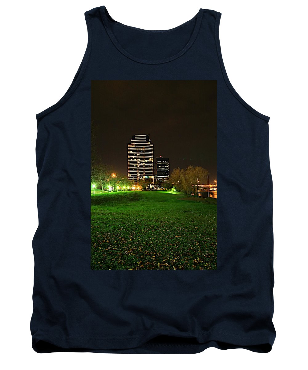 Grand Rapids Mi City Scapes Tank Top featuring the photograph Grand Rapids Mi Under The Lights-5 by Robert Pearson
