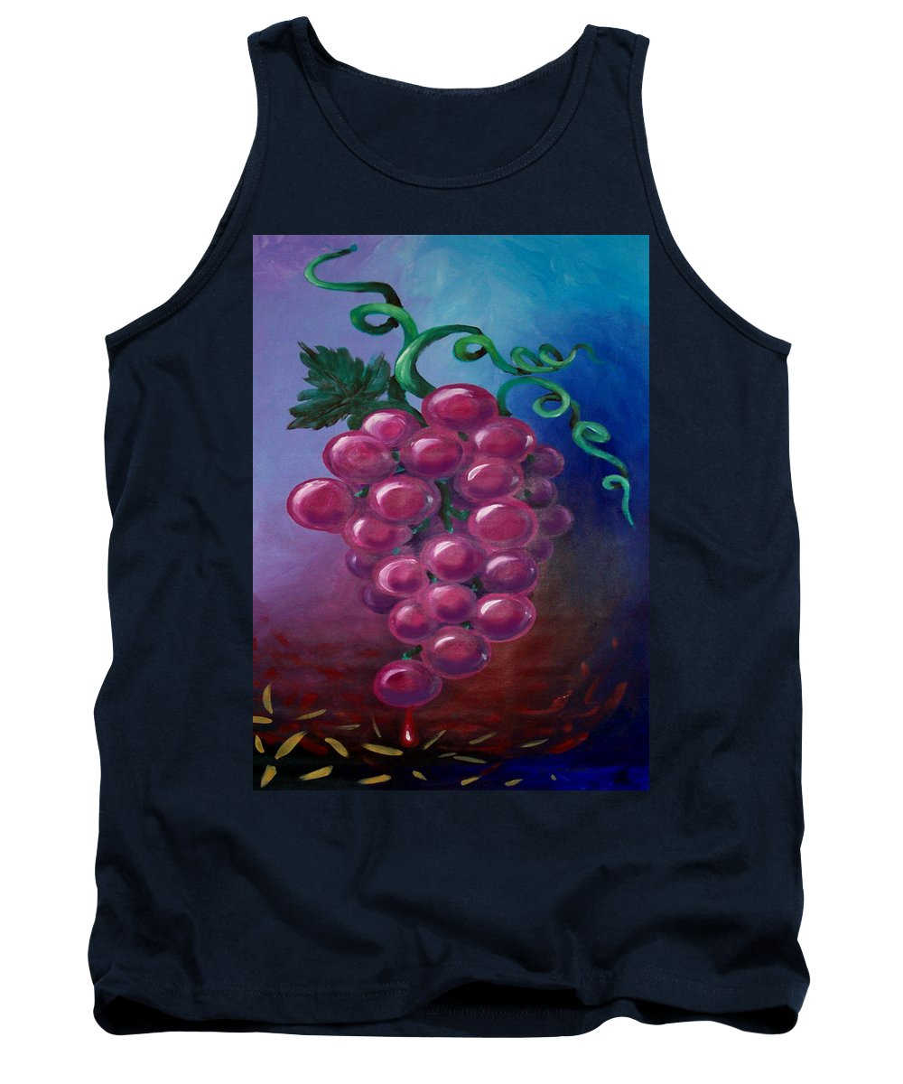 Grape Tank Top featuring the painting Grapes by Kevin Middleton