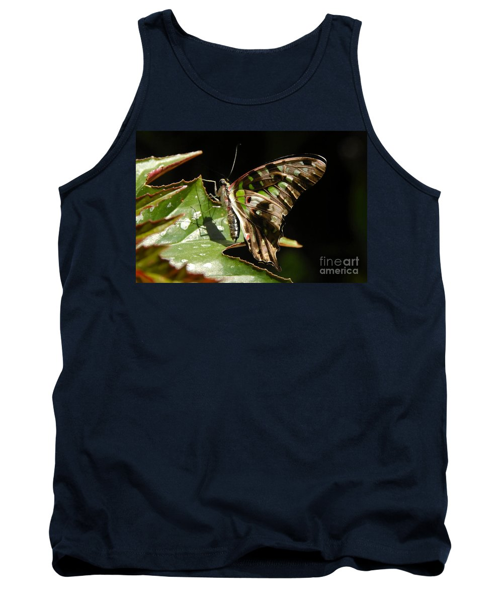 Butterfly Tank Top featuring the photograph Green Checkered Skipper by David Lee Thompson