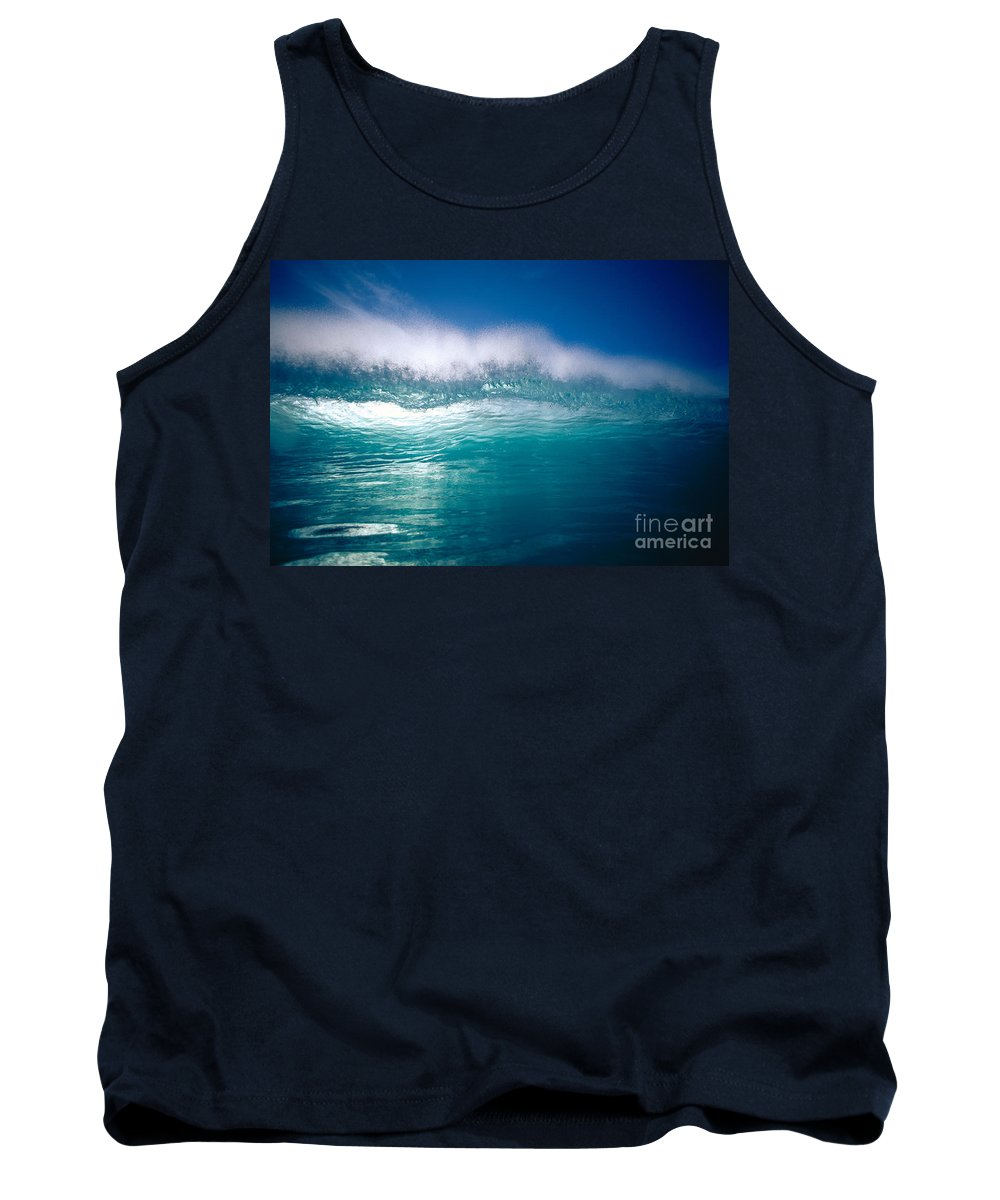 Backlit Tank Top featuring the photograph Green Wave by Vince Cavataio - Printscapes