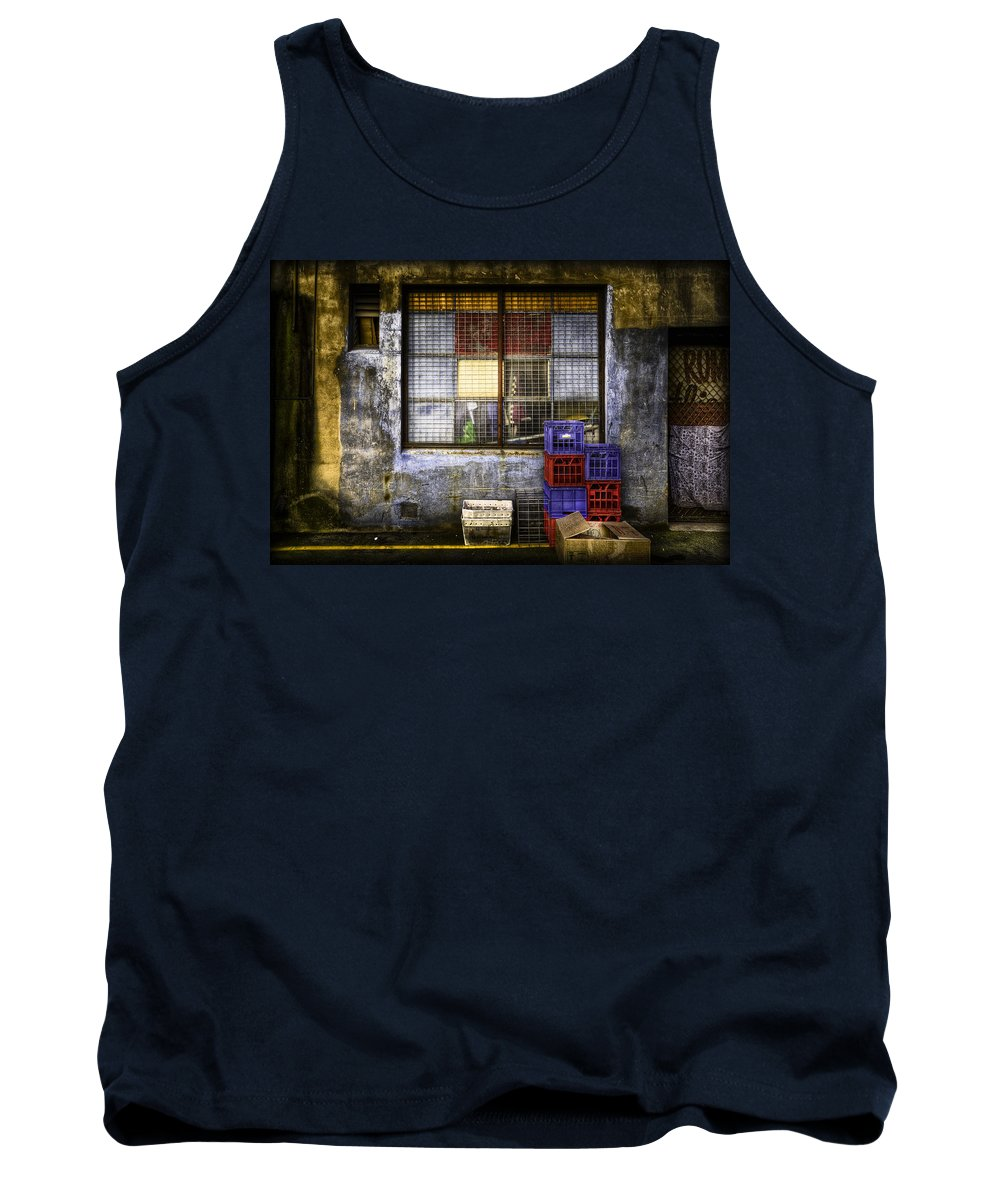 Grunge Tank Top featuring the photograph Grunge Dept by Wayne Sherriff