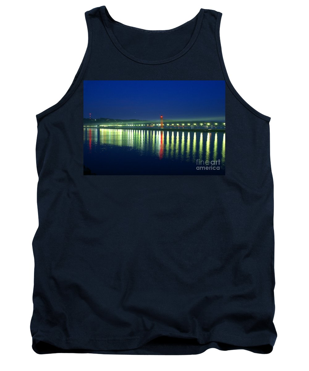 Pier Tank Top featuring the photograph Guiding Light by Robert Pearson