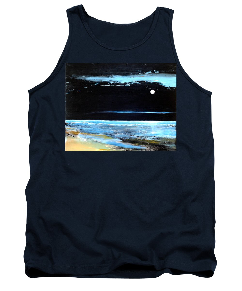 Landscape Tank Top featuring the painting Guiding Light by Toni Grote