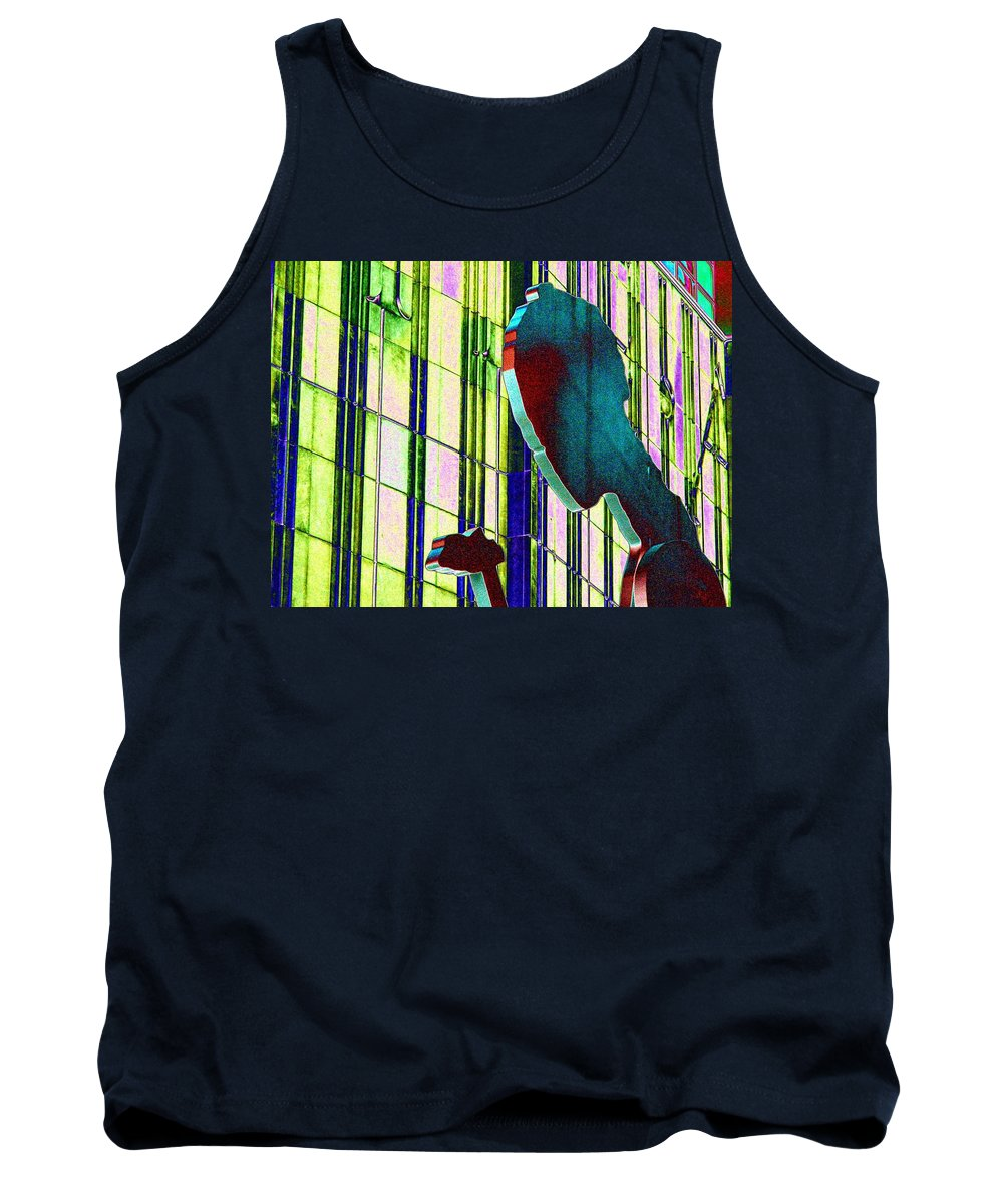 Seattle Tank Top featuring the digital art Hammering Man 3 by Tim Allen