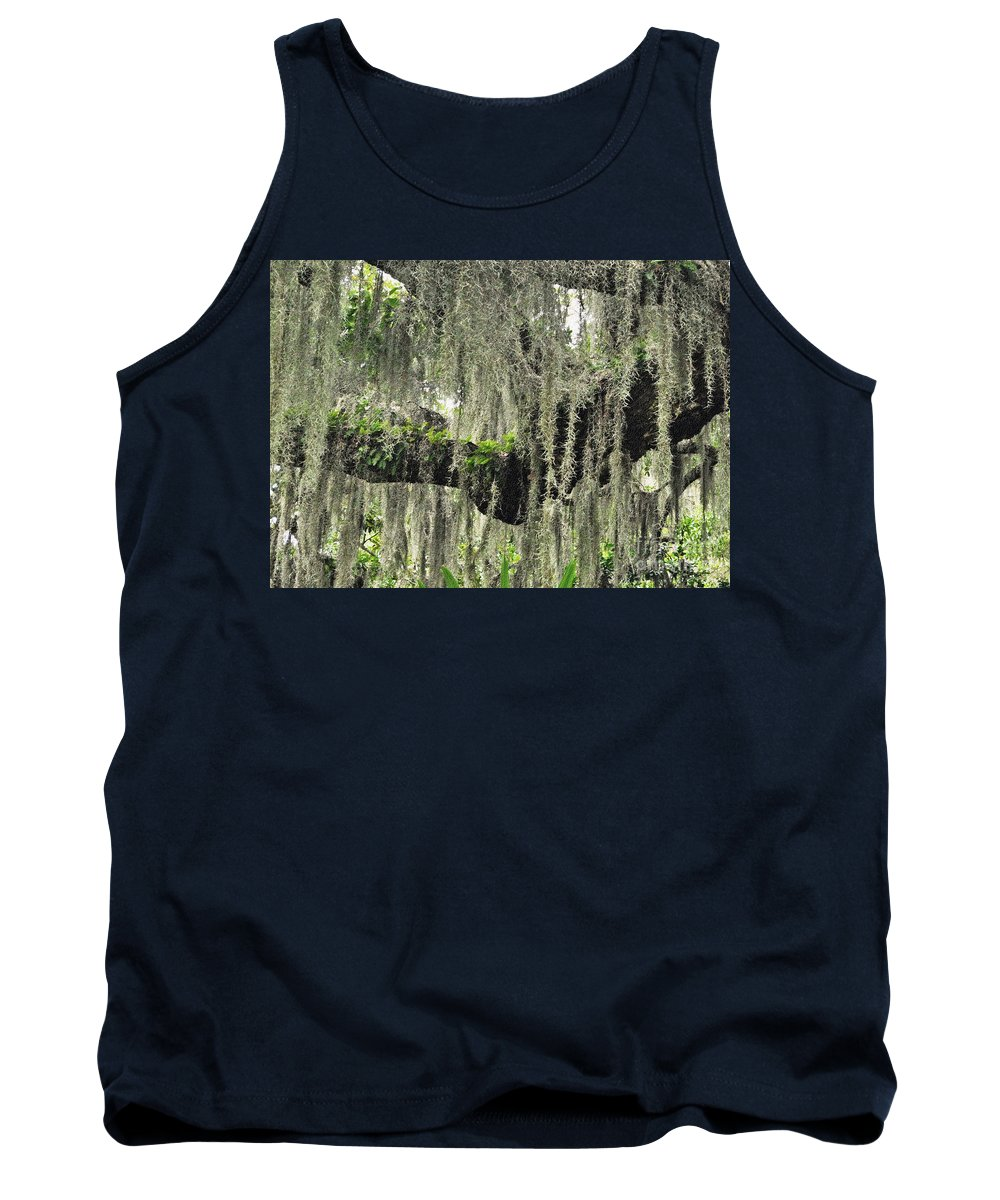 Moss Tank Top featuring the photograph Hanging Moss by Lydia Holly