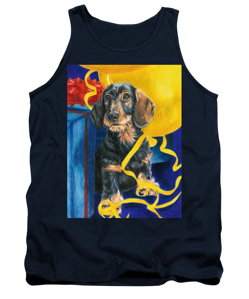 Dogs Tank Top featuring the drawing Happy Birthday by Barbara Keith