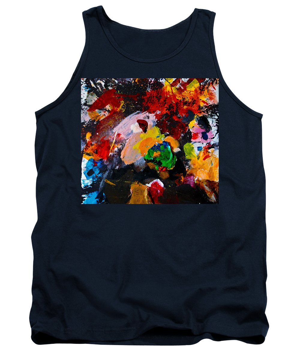Abstract Tank Top featuring the painting Happy Harmony by Natalie Holland