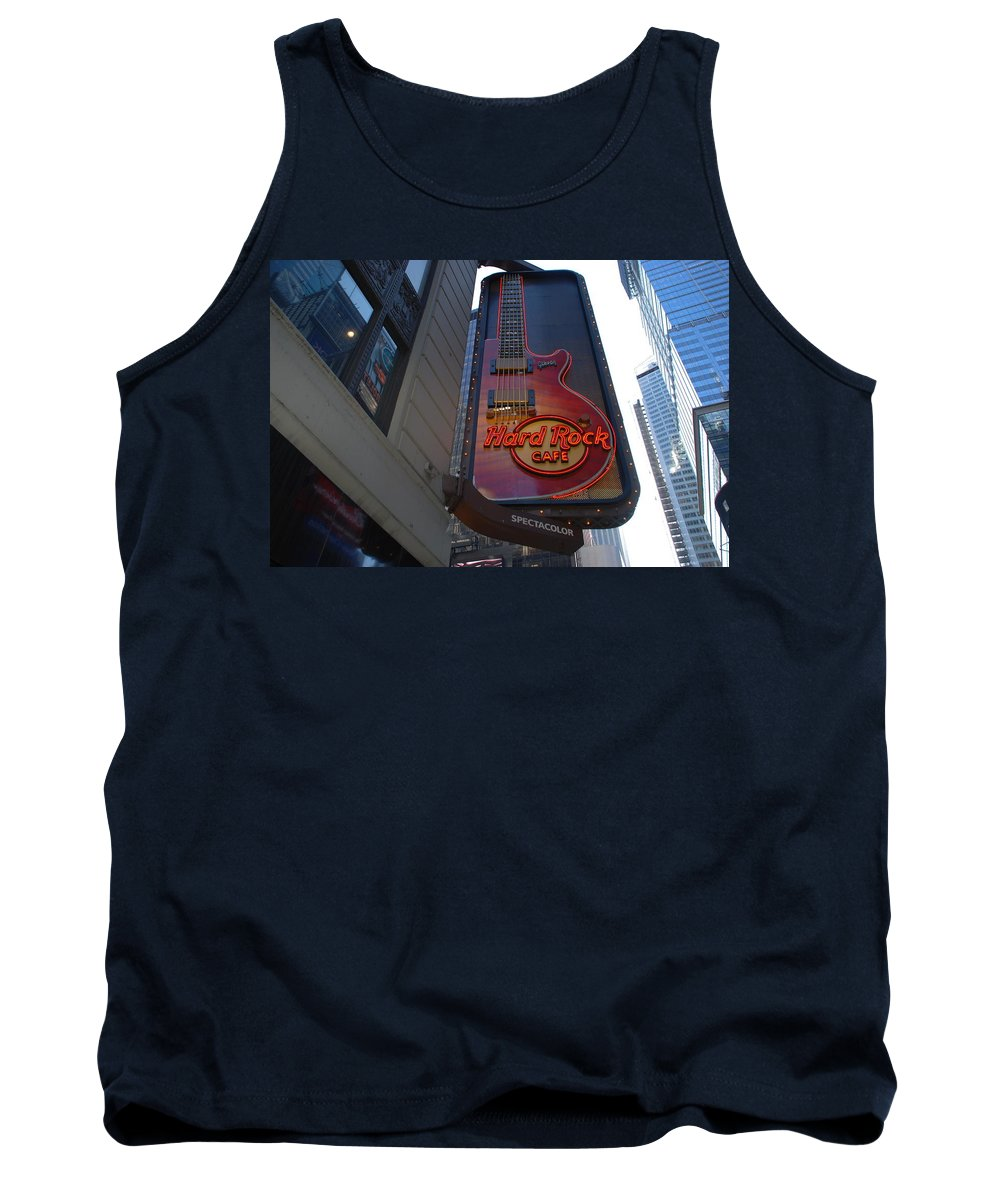 Music Tank Top featuring the photograph Hard Rock Cafe N Y C by Rob Hans