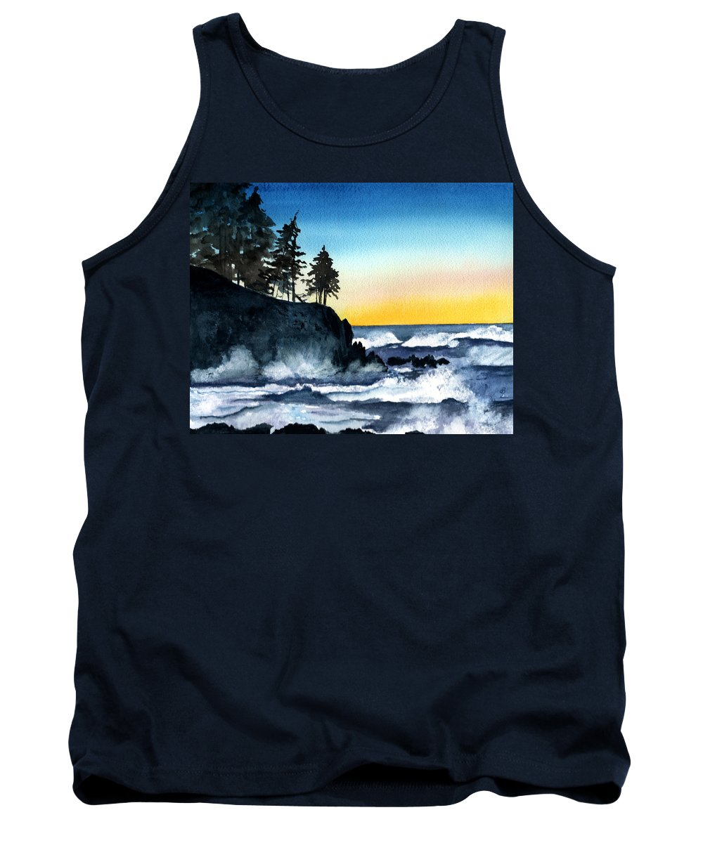 Alaska Tank Top featuring the painting Headland by Brenda Owen