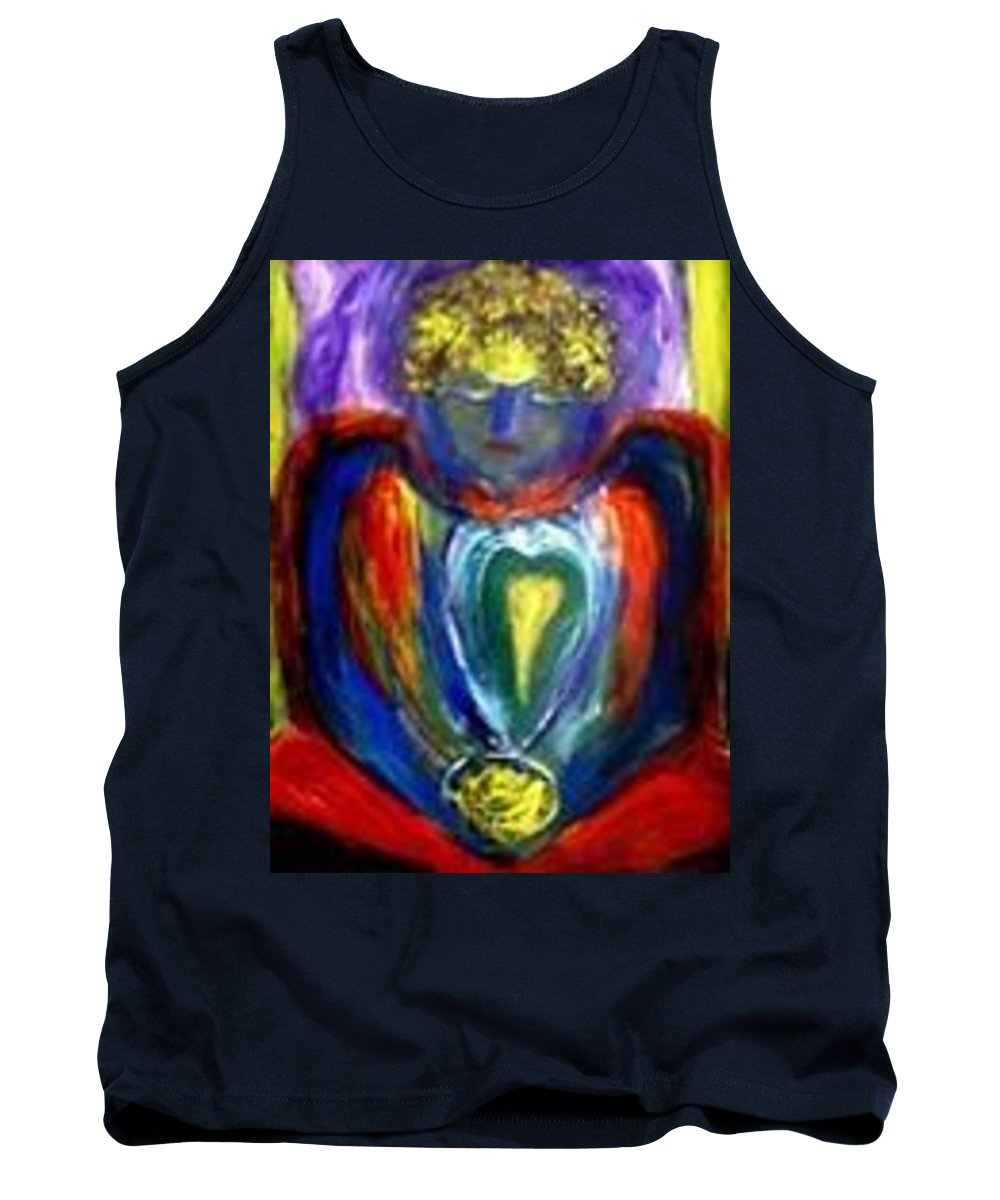 Meditation Image Tank Top featuring the painting Heart Meditation by Marilyn Ingrid St-Pierre