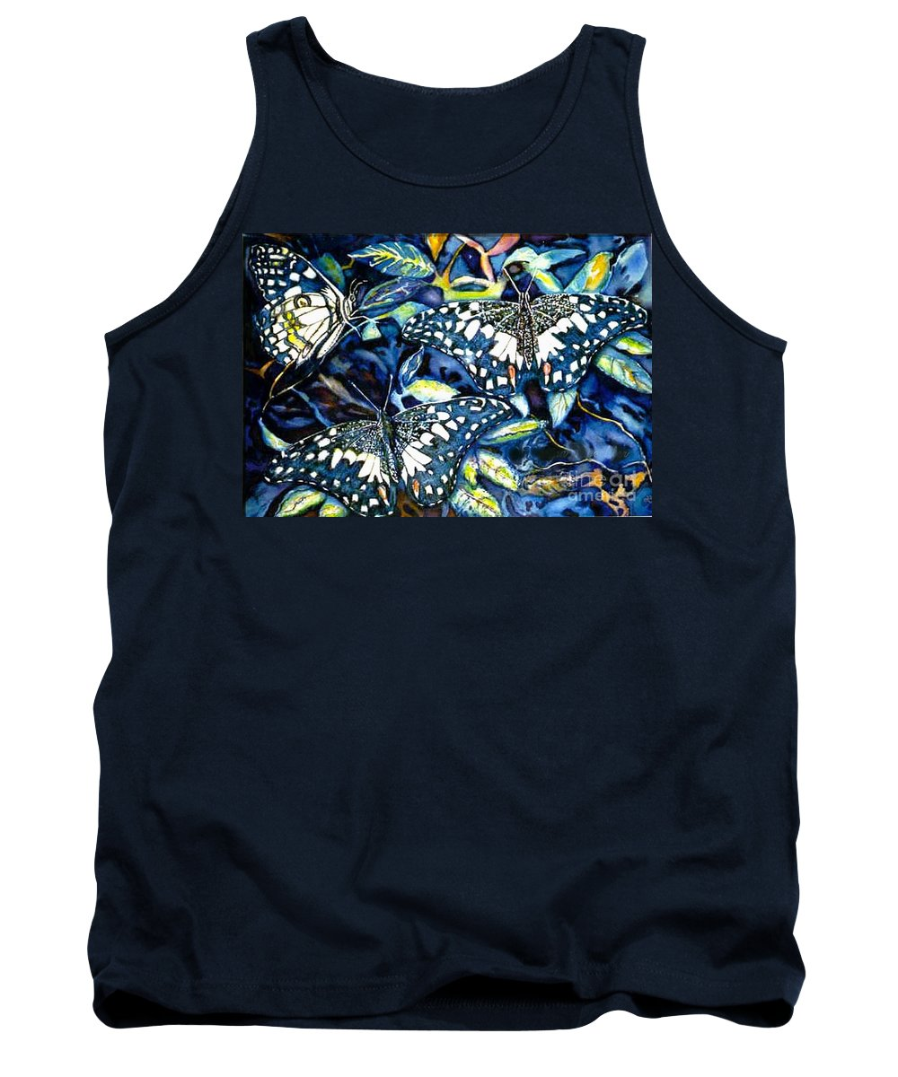 Butterfly Artwork Tank Top featuring the painting Heavenly Jewels by Norma Boeckler