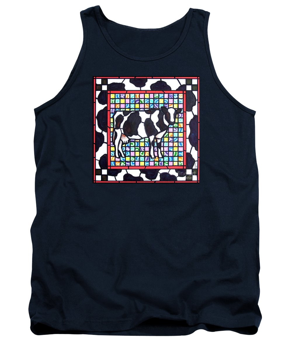 Cattke Tank Top featuring the painting Holstein 3 by Jim Harris