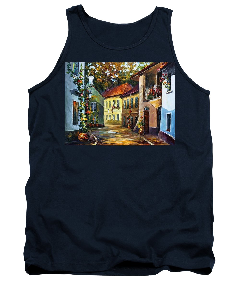 Afremov Tank Top featuring the painting Hot Noon by Leonid Afremov