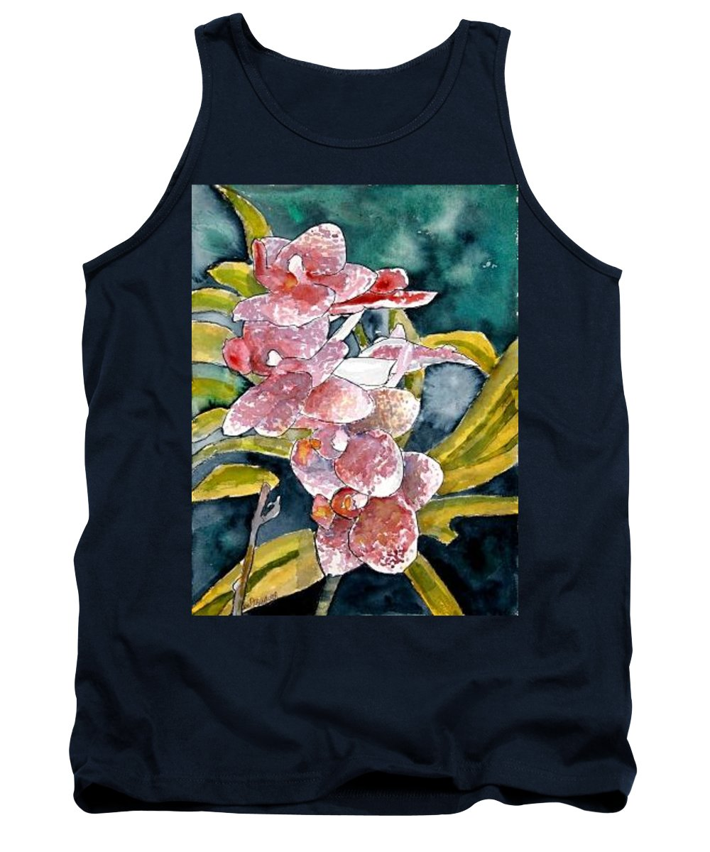 Orchid Tank Top featuring the painting Hybrid Orchids Orchid Flowers by Derek Mccrea