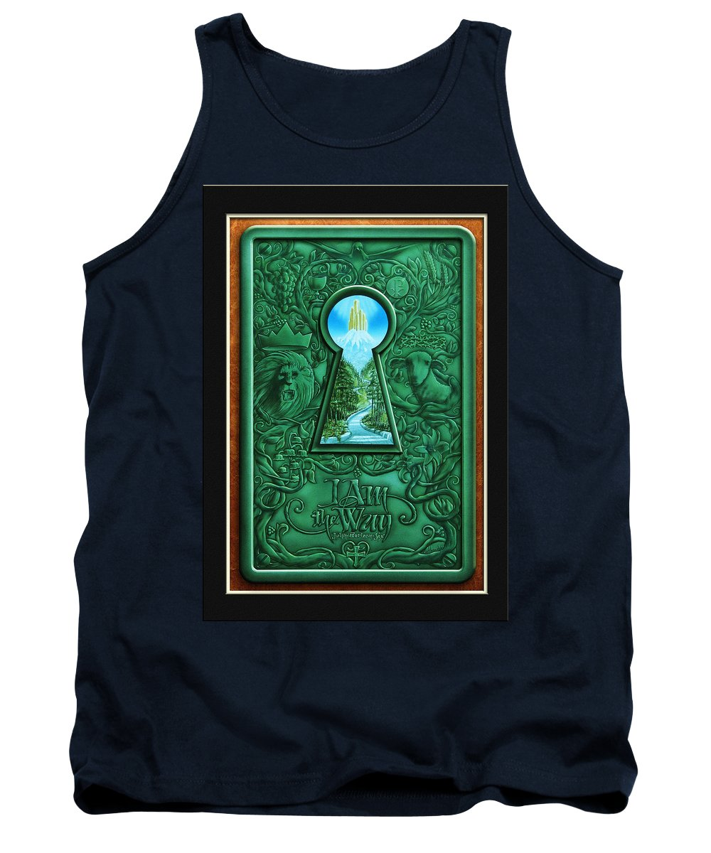 Inspirations Tank Top featuring the painting I Am The Way by Cliff Hawley
