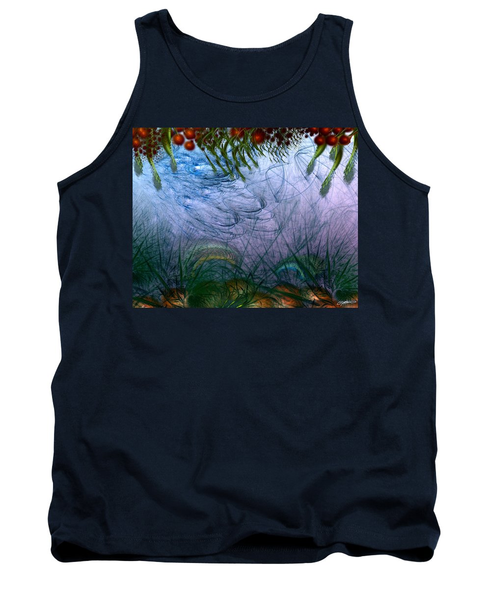 Abstract Tank Top featuring the digital art Incursion Into The Inversion by Casey Kotas
