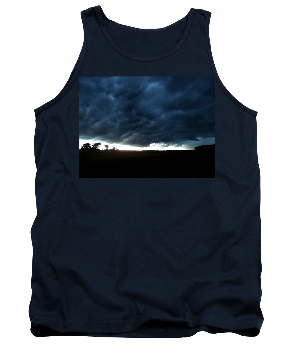 Indiana Tank Top featuring the photograph Indiana Storm Front by Dan McCafferty