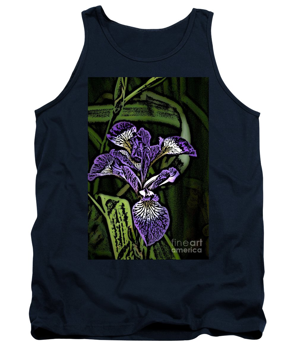 Digital Photograph Tank Top featuring the photograph Iris by David Lane