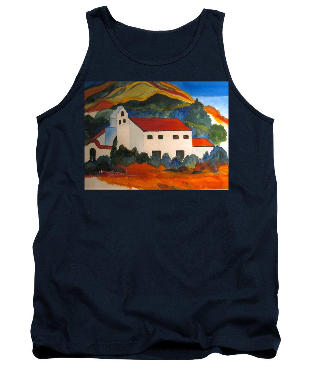 Church Tank Top featuring the painting Island Church by Donna Steward