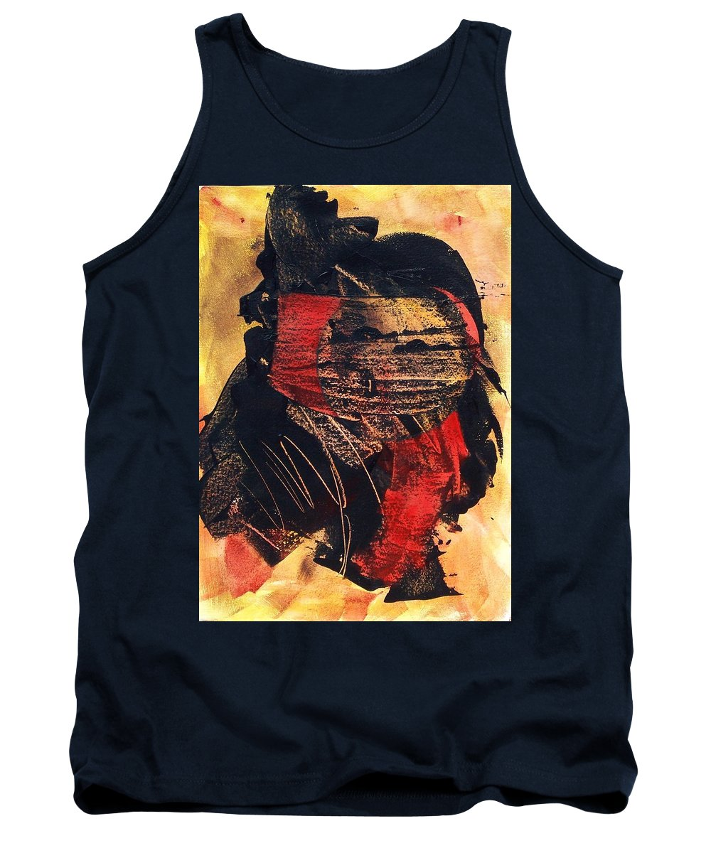 Abstract Expressionism Tank Top featuring the painting Islands In The Sun by Donna Frost