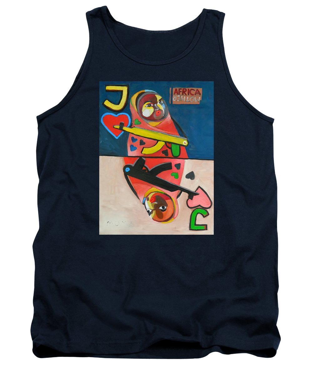 Jack Tank Top featuring the painting Jack by Moma Bjekovic