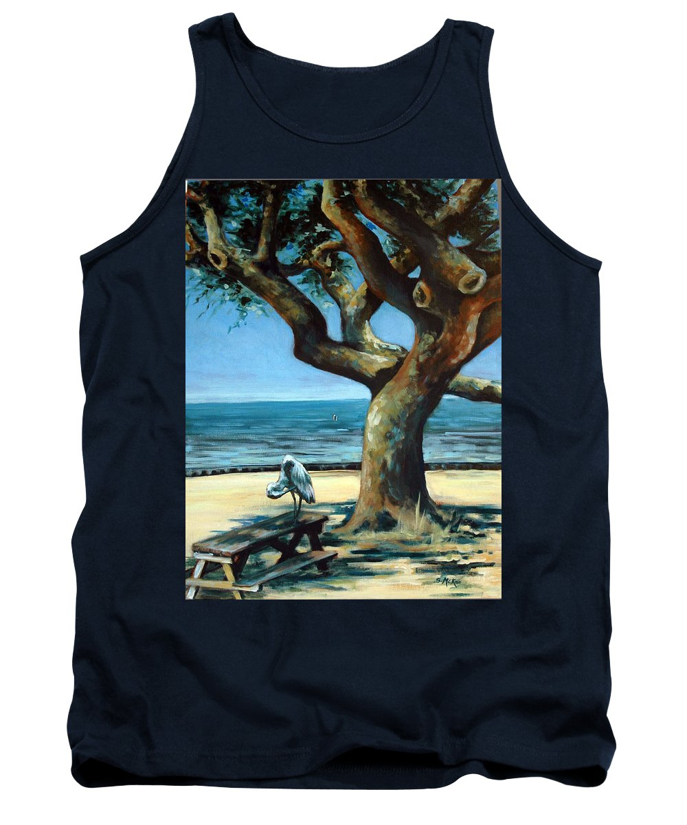 Acrylic Tank Top featuring the painting January Afternoon by Suzanne McKee