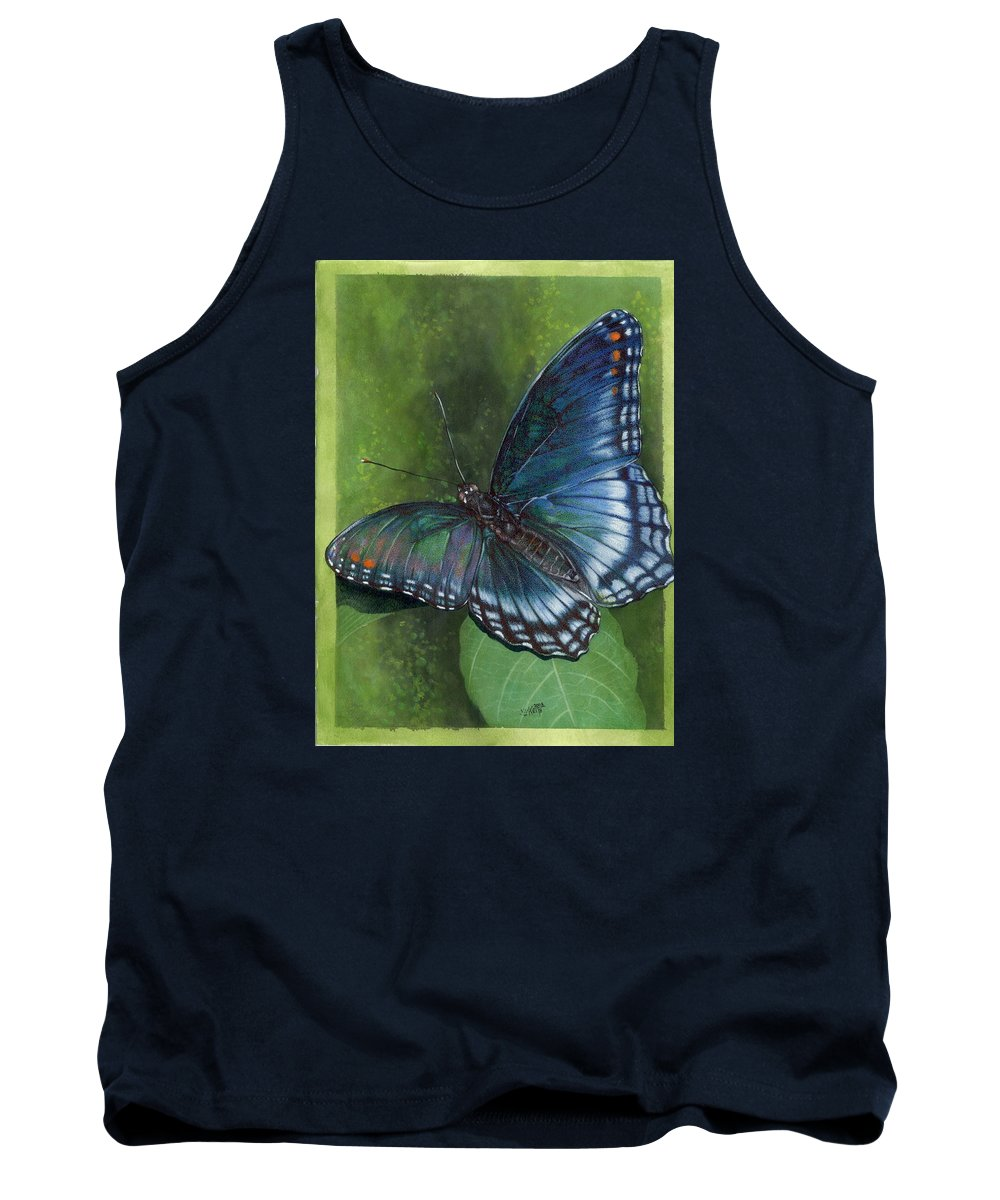 Insects Tank Top featuring the mixed media Jewel Tones by Barbara Keith