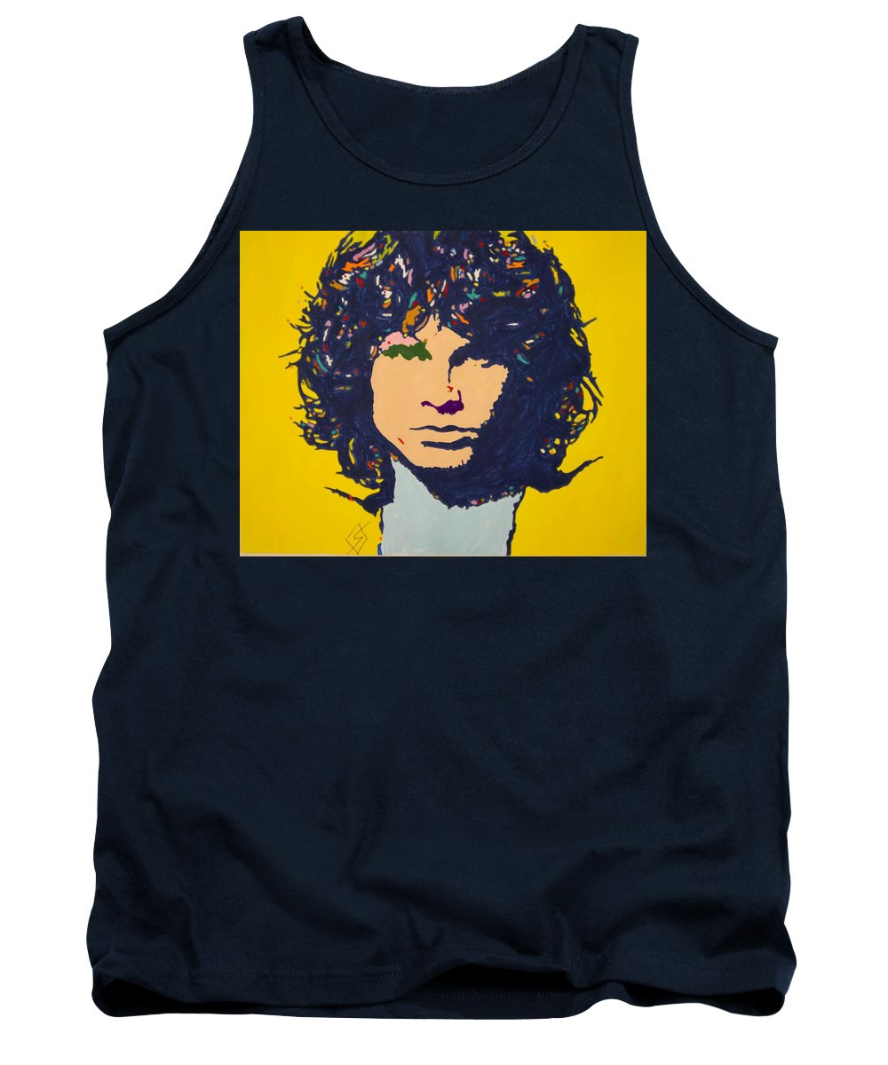 Jim Morrison Tank Top featuring the painting Jim Morrison by Stormm Bradshaw